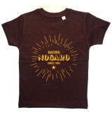 T-Shirt Enfant Bordeaux chiné